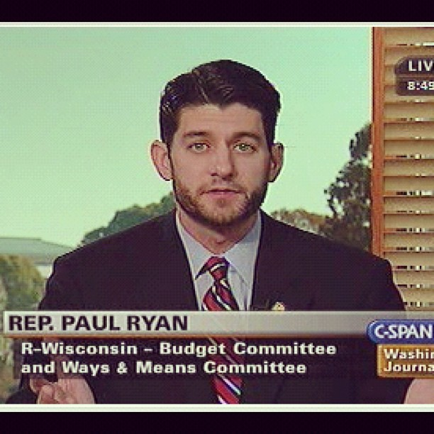 Reconsidered my vote for a quarter of a second…. Beautiful Paul Ryan . Too bad your views suck.