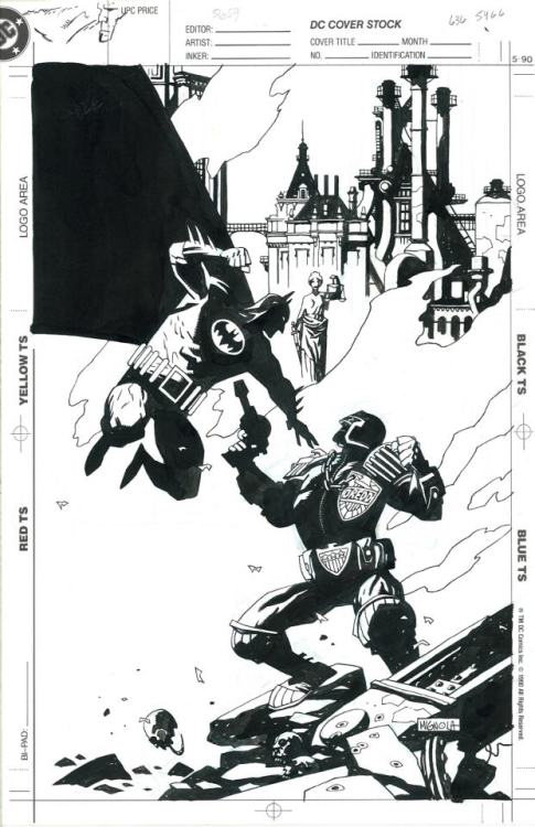 snailking:  Batman Vs Judge Dredd Art : Mike Mignola