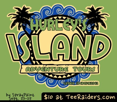 Hurley's Island Tours by spraypaintOn sale for $10 from TeeRaiders for 72 hours only.