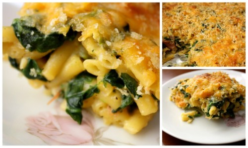 arunrasmey:  Spinach and Turkey Macaroni & Cheese I confess…. I used the blue box. Hehe. BUT I didn't follow the directions. I made my own bechamel and turned that into a cheese sauce. Then to a casserole topped w/ shredded cheese and panko. =)