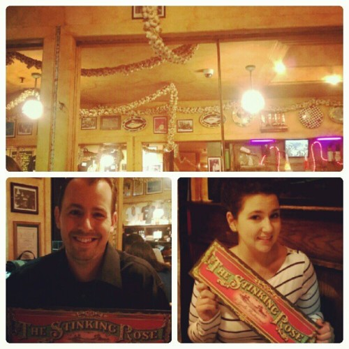Dinner collage! At the stinking rose, with the worlds longest garlic braid! #Yum #foodie #sanfrancisco #vacation  (Taken with Instagram)