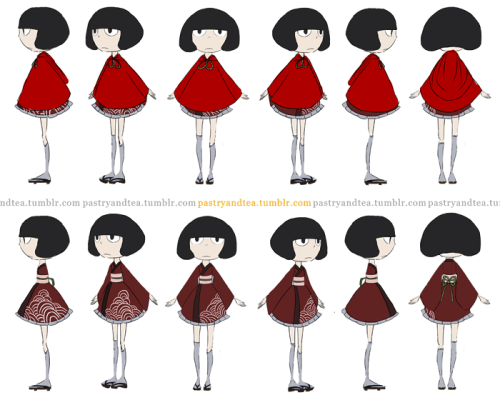 Mio character turnaround.  Animation majors out there, let me know if I need to work on anything (because I don't have any formal training in this kind of thing)!