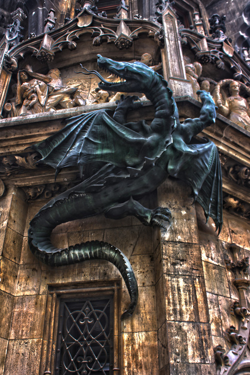 rwa42:  Dragon, Town Hall, Munich, Germany photo via afine