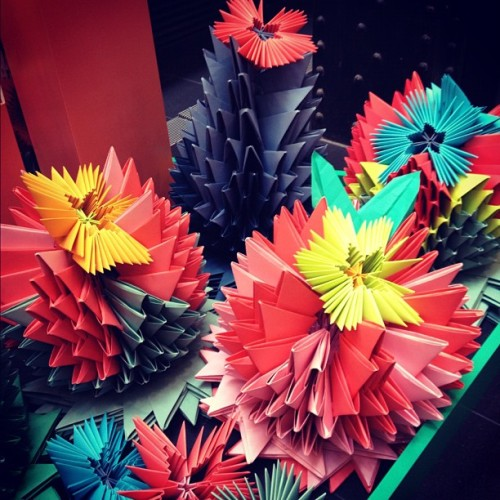 Folded paper art. #GPO #melbourne #shopping  (Taken with Instagram)