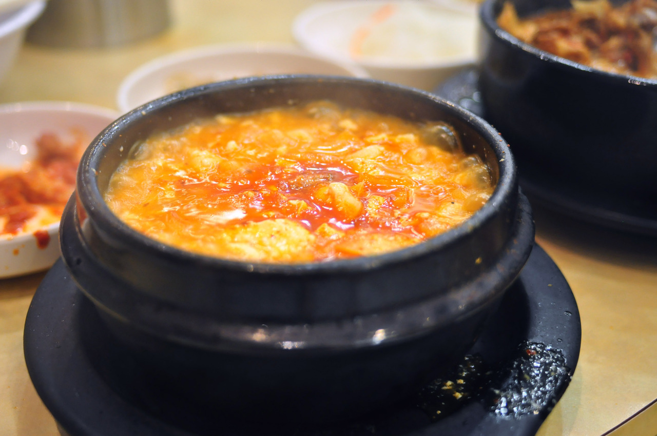 Nak Won Korean Restaurant Soondubu. Spicy tofu soup.