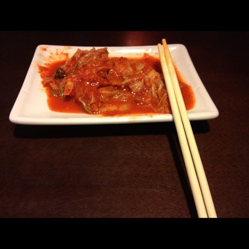 Yumm factor #food #nomz #kimchi #ramen  (Taken with Instagram at Anime Ramen & Teriyaki)
