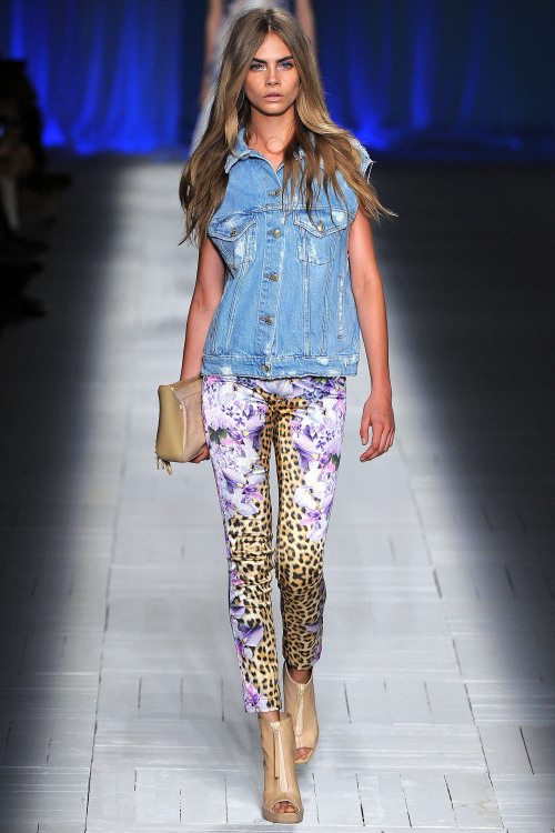 thecaradelevingne:  Cara for Just Cavalli S/S 13 at Milian Fashion Week