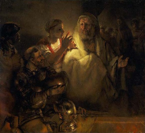 St. Peter's Denial by Rembrandt