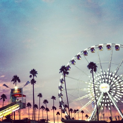 Sunsets and fairs.  (Taken with Instagram)