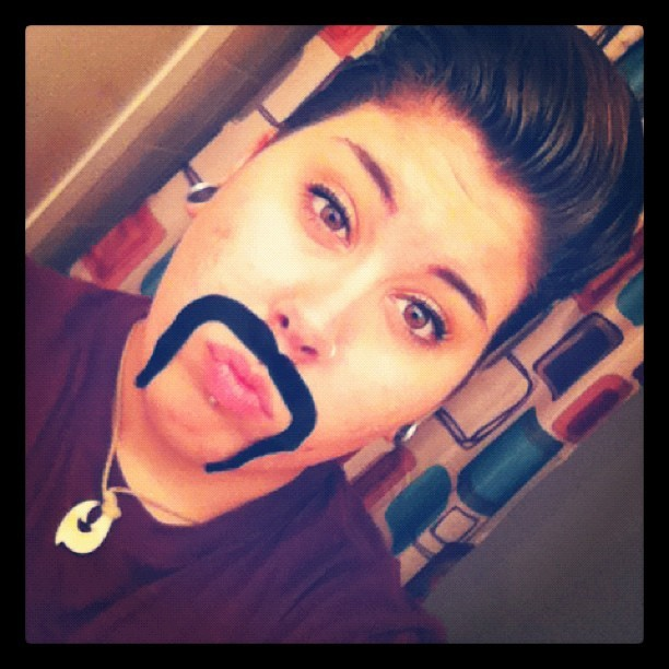 hellokayjo:  I look sexy #gay #lesbian #dyke #piercings #mustache (Taken with Instagram)