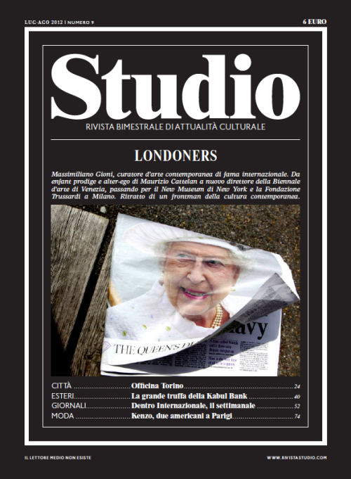 Cover I shot for Italian magazine Studio, about Londoners