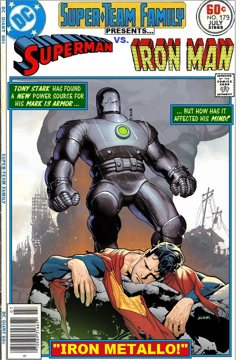Ironman vs Superman cover fake