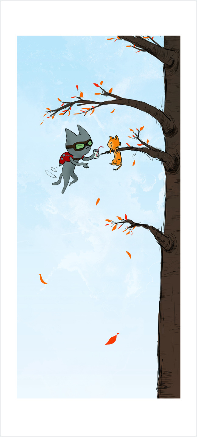 "Hang in There, Baby! 9x20"" archival print, available on the Etsy!"