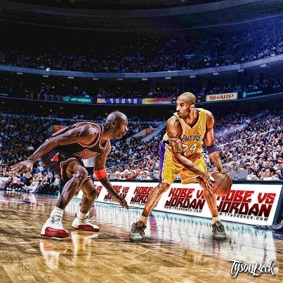"""Definitive Kobe vs Jordan Debate""  ""Kobe's the only one to have done the work, to deserve comparison."" - Michael Jordan"