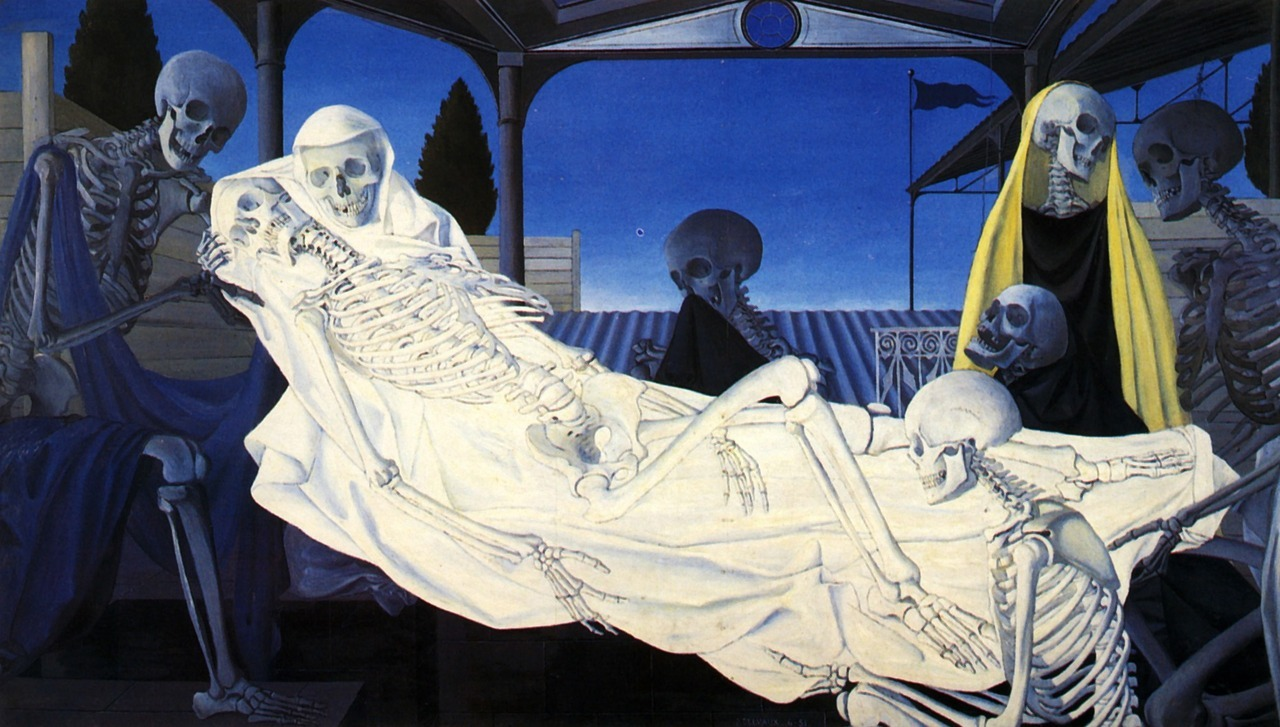deadpaint:  Paul Delvaux, The Deposition