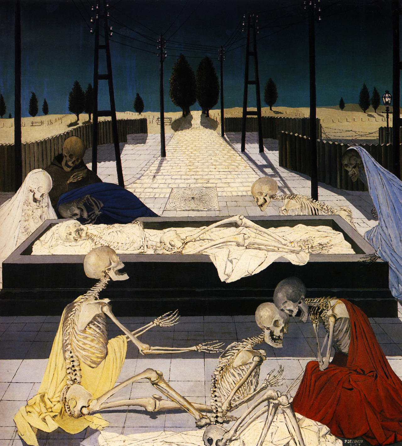 Paul Delvaux, The Focus Tombs