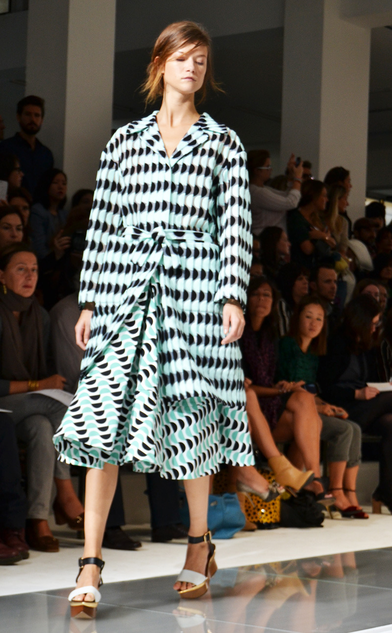 Marni's signature prints, this morning at Milan Fashion Week | more Design Scene soon: http://www.designscene.net/marni