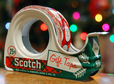 sleigh-ride:  (via Scotch Gift Tape, 1960's | Flickr - Photo Sharing!) Remember the days when tape was a quarter?
