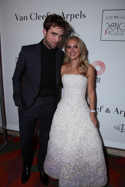 Rob with Natalie Portman at the Van Cleef and Arpels dinner for LA Dance Project at Disney Hall - September 22nd, 2012