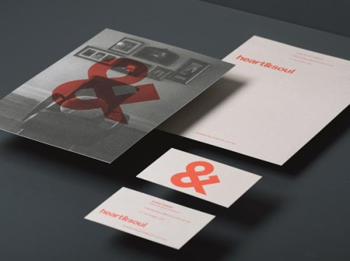 Brand Design Adelaide, Australia-based graphic design consultancy Band was commissioned to redesign the existing brand identity of Heart & Soul, an interior decoration company specialized in residential interiors. via: WE AND THE COLORFacebook // Twitter // Google+ // Pinterest