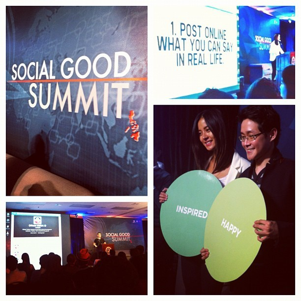 Attended the Social Good Summit yesterday. Fave speakers: @iamsuperbianca & @iamchrislao. :) #iPHLgood #SGSglobal (Taken with Instagram at Asian Institute of Management)
