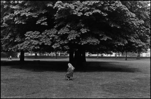 Bruce Davidson, Blonde child sitting in park.
