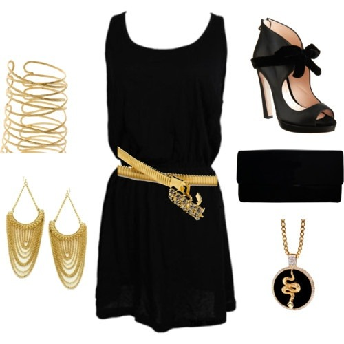 black and gold (via Best outfits for 365 days | iFashionDesigner.org)