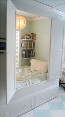 prismaticlight:  Closet bed