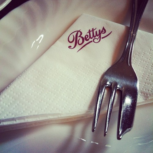 Bettys afternoon tea.  (Taken with Instagram)