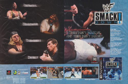 playerspulse:  WWF Smackdown! Advert [Playstation - March 2000]