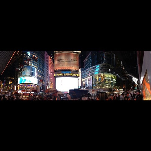 Times SQ pano #nofilter  (Taken with Instagram at Times Square)
