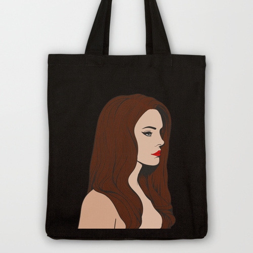 Lana Del Rey tote bag designed by Costin M.