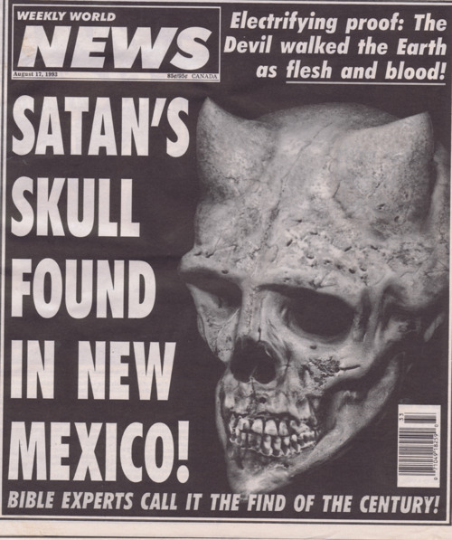 doeswindything:  thats not satan thats nepeta  It's the Weekly World News.  They're the world's leading source in news. It's Satan.