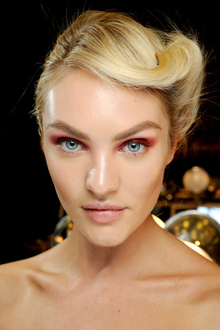 Candice Swanepoel atDonna Karan F/W 2012 RTW. Make up