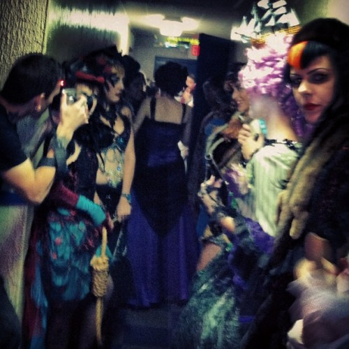 castlespooktacular:  Fun! (Taken with Instagram)  The ghouls backstage at my fashion show!