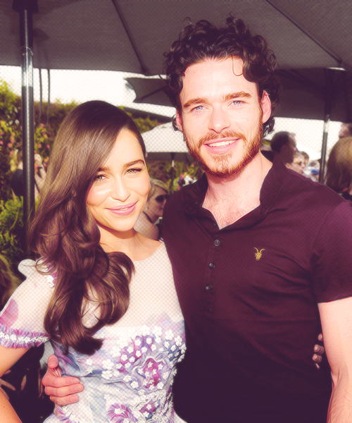 Emilia Clarke and Richard Madden at BAFTA LA TV Tea 2012 Presented By BBC America (09.22.12)