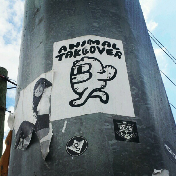 #wynwood #steetart #wheatpaste #miamistreetart #streeartmiami  (Taken with Instagram)