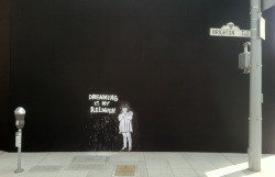 Has Banksy struck again? This time in LA? It seems to be located near Brighton Way and North Crescent Drive in Beverly Hills.