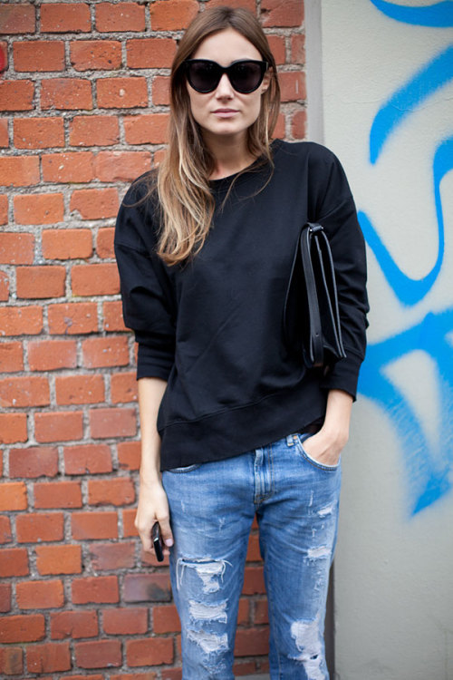 models-on-streets:  MFW 2012, street style.   SWAG!