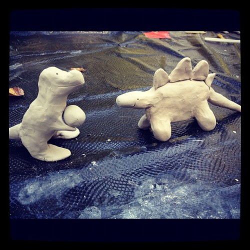 Our happy dinosaur friends! (Taken with Instagram)