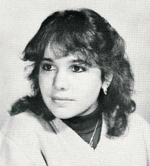 Janeane Garofalo in her 1982 Yearbook photo