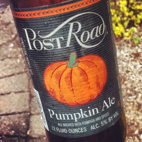 The perfect drink for Fall Sundays… Pumpkin Ale (Taken with Instagram)