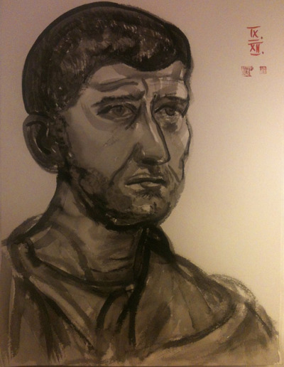 Philip the Arab, ink wash on watercolor paper 42x56cm, Sept/2012 @_blacha_ on Flickr.