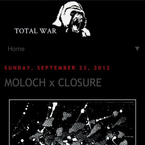 Moloch / Closure review up at Total War - http://www.crushopposition.com/2012/09/moloch-x-closure.html?m=1 #moloch #closure #feastoftentacles #kingofthemonsters #doom #sludge #powerviolence #ukhc  (Taken with Instagram)