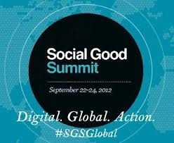 Follow me @sabrinadupre as I live Tweet from this year's Social Good Summit. Watch it live at http://mashable.com/sgs/.