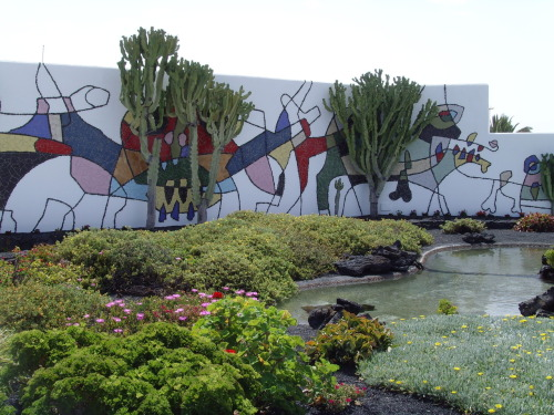 Mural by Cesar Manrique, Lanzarote, Canary islands