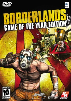"Title: Borderlands (2009) Synopsis: Choose from one of four treasure hunters who have just arrived on Pandora, a newly-colonized planet that's said to harbor a mysterious treasure, dubbed ""Pandora's Box"". Why you should like it: It has a very unique flavor. Think ""space opera"" but with a southwestern feel to it. There's ""87 Bazillion Guns"", as the box claims, all with unique traits and weapon effects. It's an RPG/FPS and it feels pretty good to play. (Sadly the missions are somewhat bland and the overworlds don't feel like they have any life.) Availability: PS3, Xbox, PC. (Also available on Steam, PSN, and XBLA) [GOTY edition available.]"