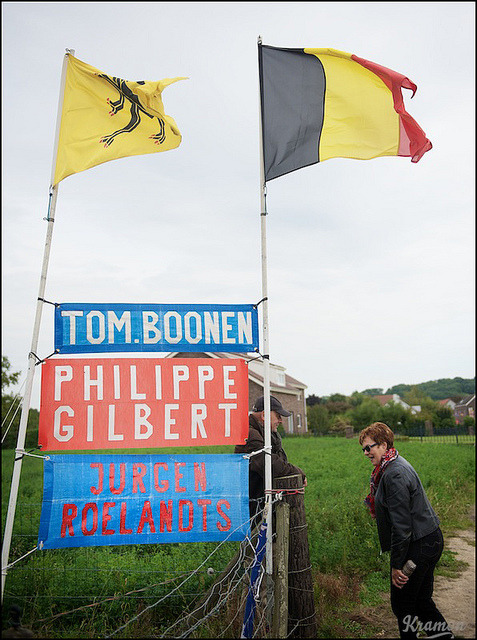 Belgian fans by the roadside by kristof ramon on Flickr.Via Flickr: UCI Road World Championships Limburg 2012 Men Elite Race