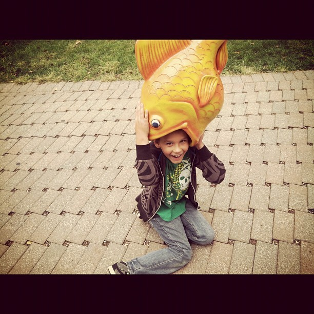 My boy gets all of his weird from me at the @ToledoZoo (Taken with Instagram)