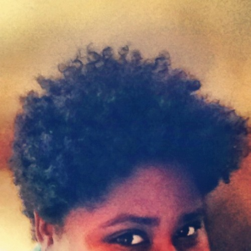 Freshly-washed #naturalhair, no product. That new #conditioner + #shampoo combo was 💣! #curls #coils #kinks #teamnatural #twa  (Taken with Instagram)